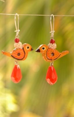 Love bird Designer Pair of Earrings