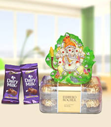 Buy Gajanand with yummy Chocolate combo diwali-chocolate online