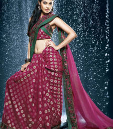 Buy Hypnotex Pink Viscos Saree Jewel508 viscose-saree online