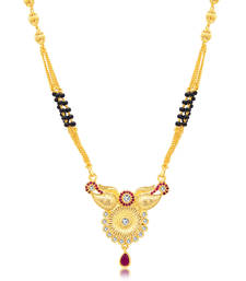Buy Gold plated austrian diamond mangalsutra mangalsutra online