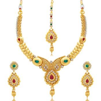 Gold plated austrian diamond necklace sets