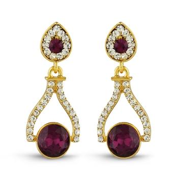 Purple Studded Jewellery Studs