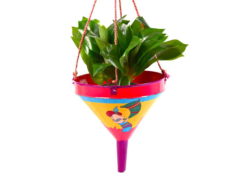 Buy Decorated Hand Painted Funnel / Planter fp rm A MuHeNeRa hand ...