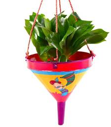 Buy Decorated Hand Painted Funnel / Planter fp rm A MuHeNeRa hand painted collection pot online
