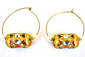 Dholak Hoop Earrings