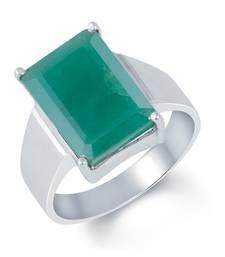 Buy 7.8ct Green Emerald gemstone rings gemstone-ring online