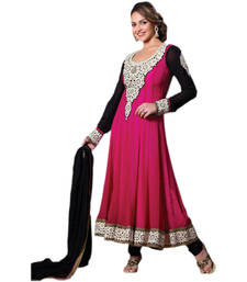 Buy Hypnotex Pink Georgette Dress Material Diva6003 anarkali-salwar-kameez online
