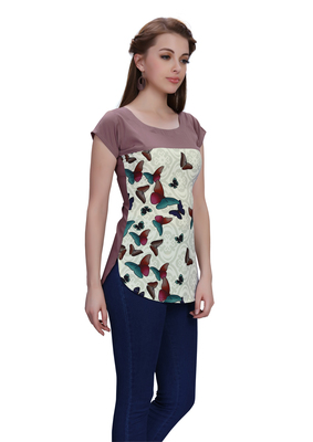 Multicolor printed crepe tops