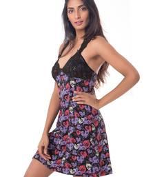 Buy PrettySecrets Cotton & Lace Racerback Nightdress sleepwear online