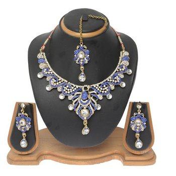Blue cubic zirconia necklace-sets