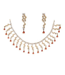 Buy Red Cubic Zirconia gemstone necklaces gemstone-necklace online