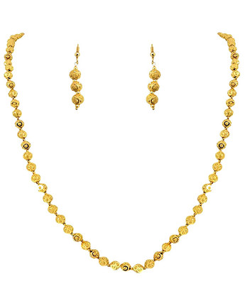 Gold Plated Ball Necklace Set