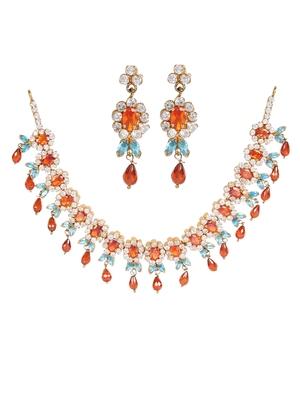 Blue Cubic Zirconia gemstone necklaces
