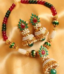 Buy GORGEOUS MULTI COLOR AASHIQUIE ANTIQUE NECKLACE SET necklace-set online