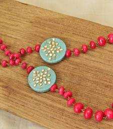 Buy Pink & Turquoise Agate Necklace necklace-set online