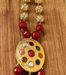 Buy Navarathan & Red Agate Necklace necklace-set online
