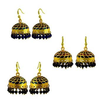 Diwali special meenakari tokri jhumki combo offer set