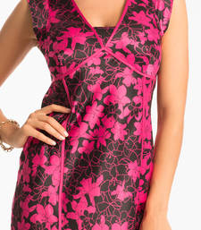Buy PRETTYSECRETS BLACK FUCHSIA FLORAL LONG NIGHTDRESS nightwear online
