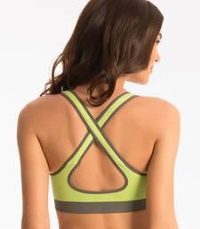 "Buy PrettySecrets Fresh Green ""Showtime Work Out"" Sports Bra workout-gym-wear online"