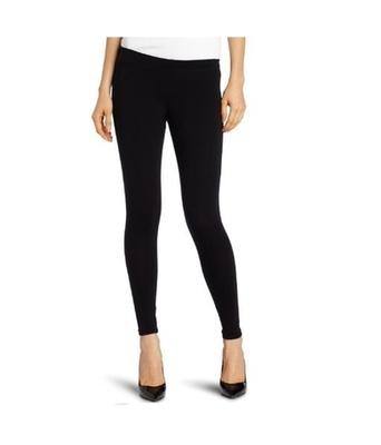Black cotton lycra stitched leggings