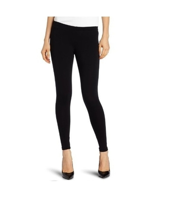 Black cotton lycra stitched leggings
