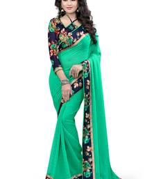 Buy C Green printed bhagalpuri silk saree with blouse great-indian-saree-festival online