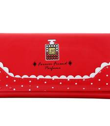 Buy Red pu and artificial leather wallets wallet online