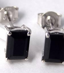 Buy Black Onyx Sterling Silver semi precious gemstone earrings gemstone-earring online
