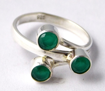Green Emerald Sterling Silver semi precious other gemstone