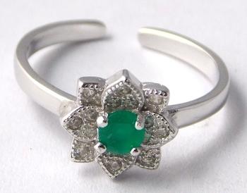Green Emerald Sterling Silver semi precious other gemstone