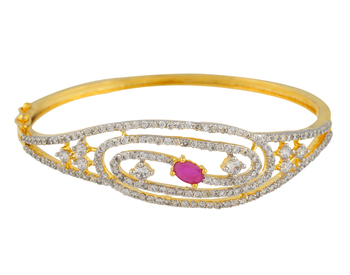 Red Cubic Zirconia Bangles And Bracelets