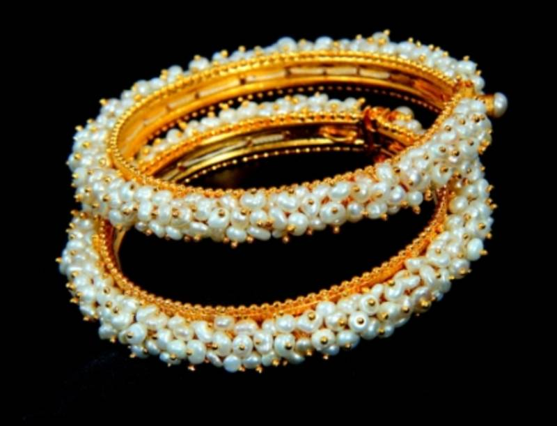 Buy Real Pearls Seed Pearls Bangles From Hyderabad Sridevi