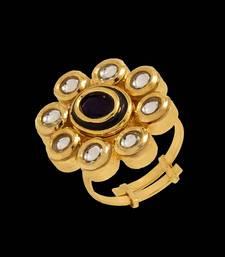 Buy Gold kundan rings Ring online