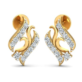 0.16ct diamond studs 18kt gold earrings