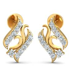 Buy 0.16ct diamond studs 18kt gold earrings gemstone-earring online