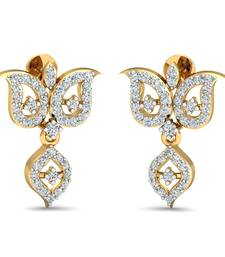 Buy 0.58ct diamond danglers drops 18kt gold earrings gemstone-earring online