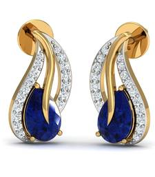 Buy 0.11ct diamond studs 18kt gold earrings gemstone-earring online