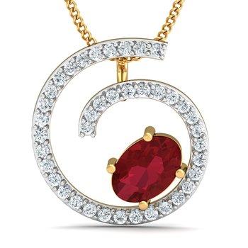 0.2ct diamond 18kt gold pendants