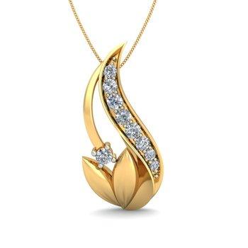 0.12ct diamond 18kt gold pendants