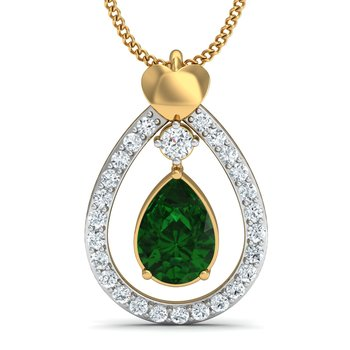 0.19 diamond 18kt gold pendants