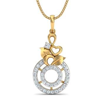0.22 diamond 18kt gold pendants