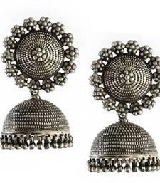 Silver Beads Studded Beautiful Designer Jhumki