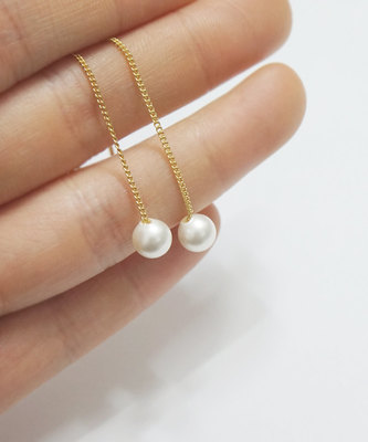 Special fancy unique pearl earrings