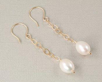 Special fancy unique pearl earrings