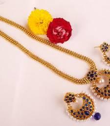 Splendid Blue Kemp Long Necklace Set