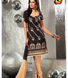 Buy Anmol - Centre of Attraction !!! Brown cotton unstitched suit. dress-material online