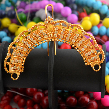 Gold AD stone hairpin