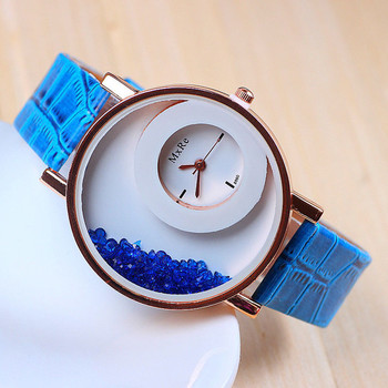 New Exclusive latest Blue colour Leather strap Girl's Wear watch arrival