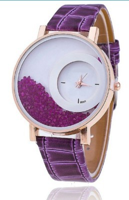 New Exclusive latest Purple colour Leather strap Girl's Wear watch arrival