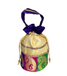 Buy golden silk potli potli-bag online